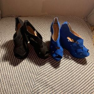 2 Pairs of Sexy Platform Wedges (can separate)